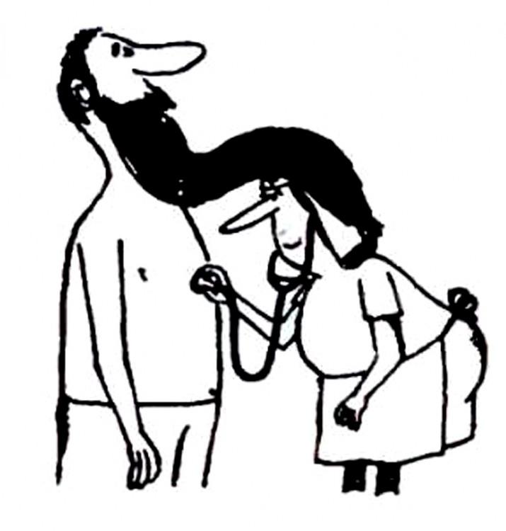 Картинка  про бороду и докторов