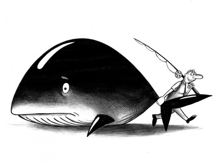 Картинка  про рыбаков и рыбу