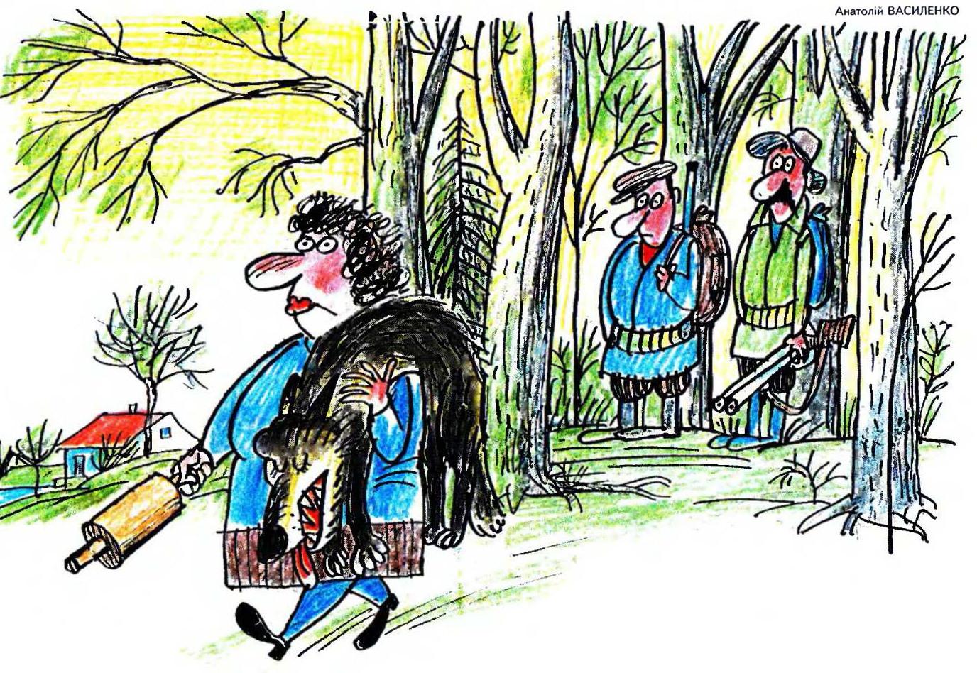 Прикольные рисунки об охотниках