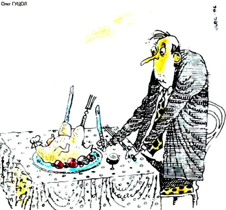 Картинка  про кур и еду