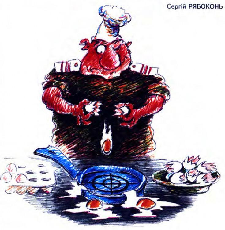 Картинка  про поваров, военных, яйца и приготовление пищи