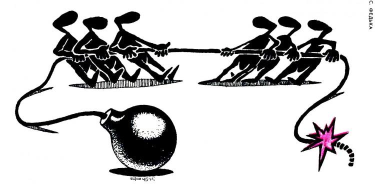 Картинка  про канат и бомбу