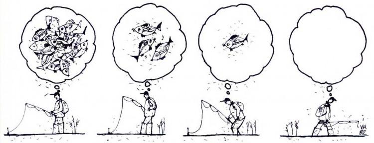 Картинка  про рыбаков и мечту