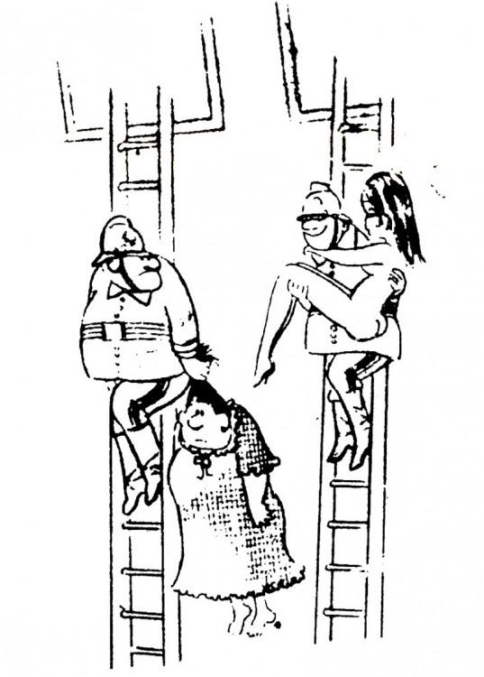 Картинка  про пожарных