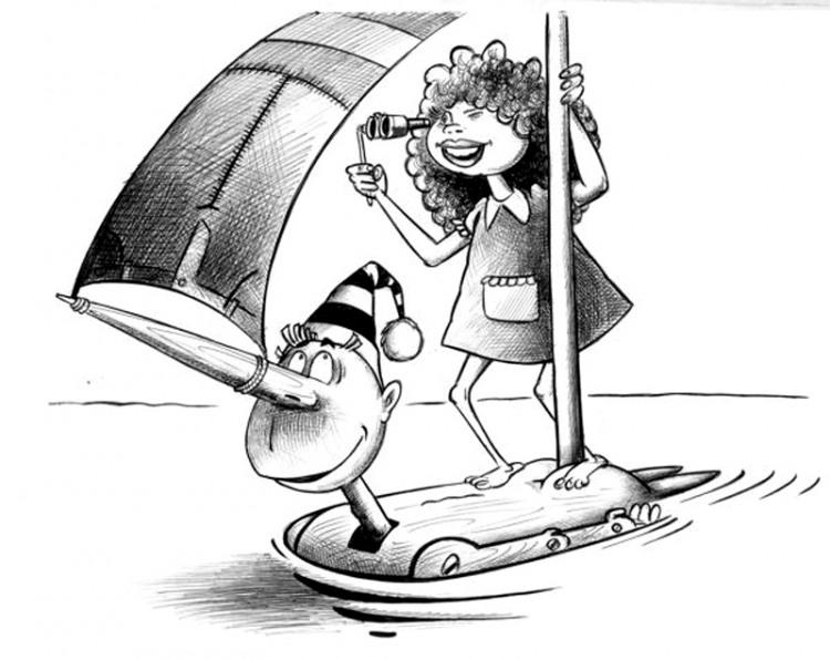 Картинка  про буратино
