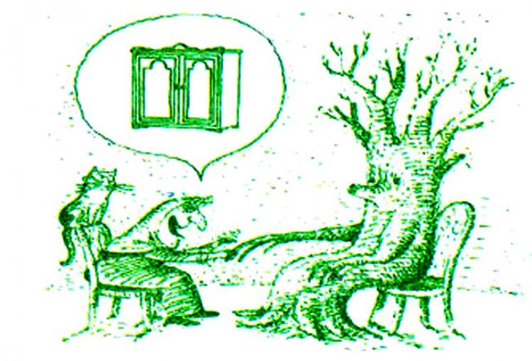Картинка  про дерево, гадалку и гадание