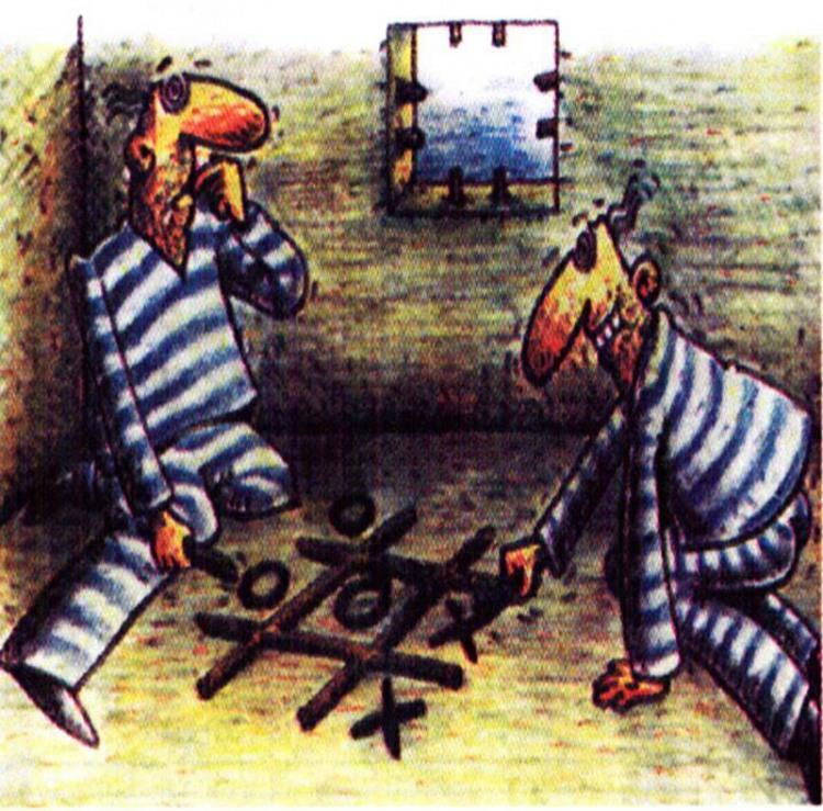 Картинка  про тюрьму и крестики-нолики