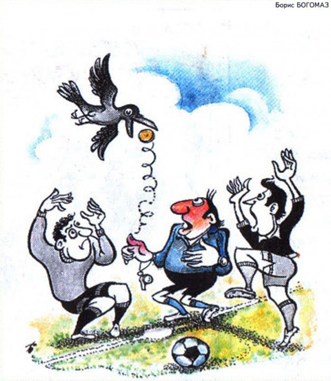 Картинка  про футбол и птиц