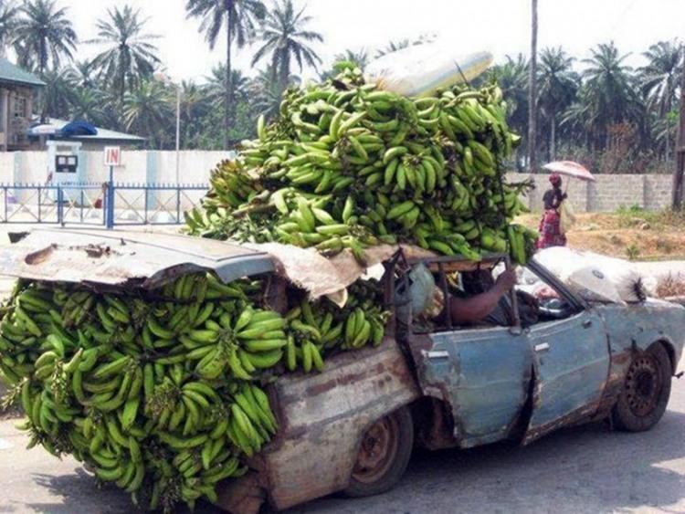 Фото прикол  про банан и автомобили
