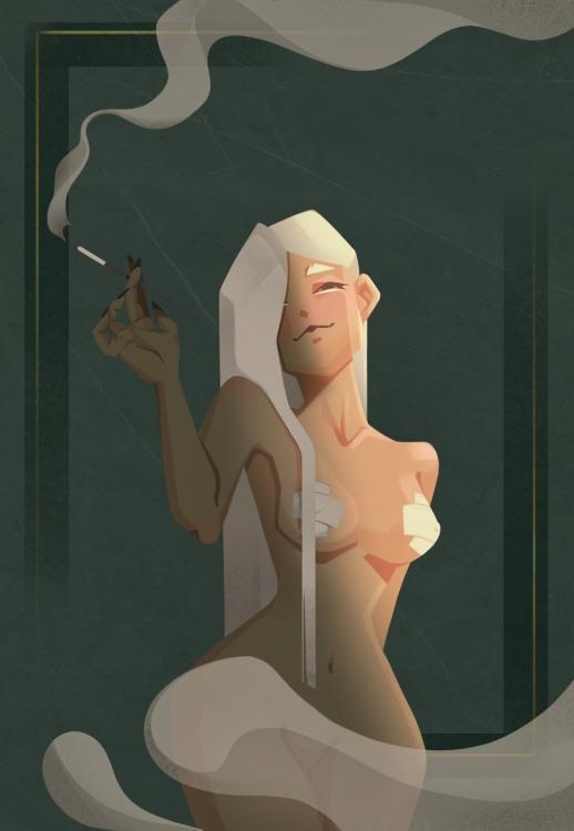 Картинка  про дым, эротику пошлый