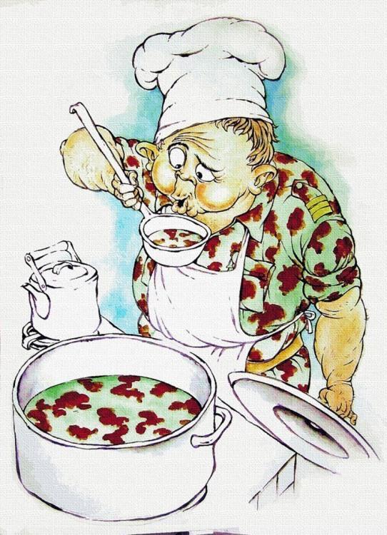 Картинка  про поваров и военных