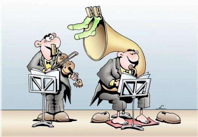 Картинка  про музыкантов, носки отвратительный
