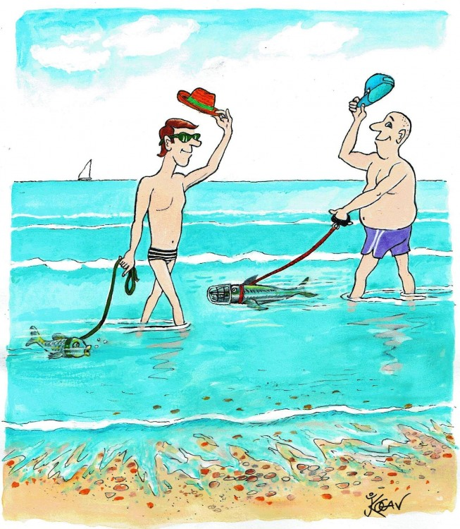 Картинка  про рыбу и намордник